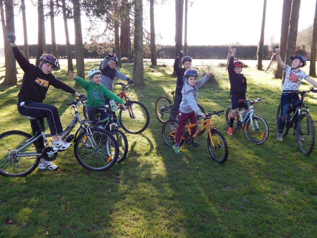 High 5 Campmates on Bikes
