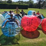 High 5 Holiday Camps playing buble football
